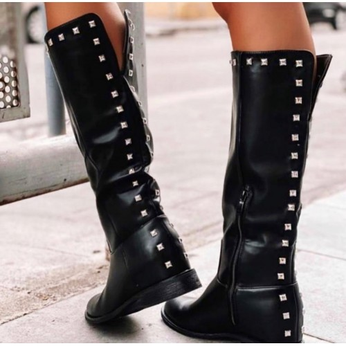 BOTAS BOSTON NEGRAS POLIPIEL
